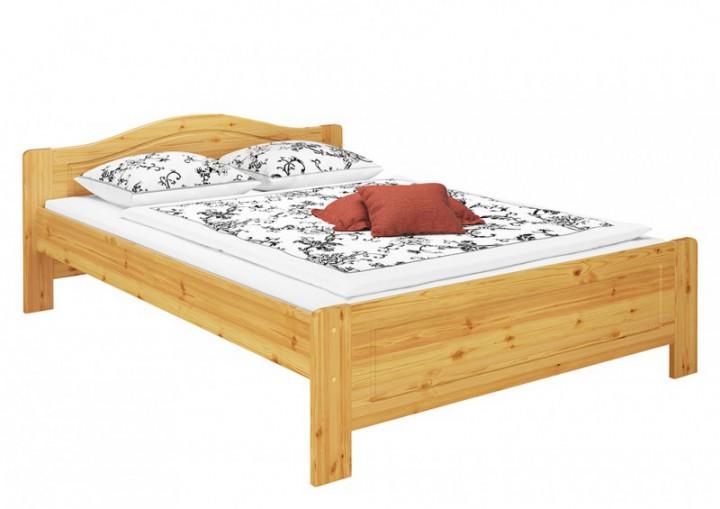 Kieferbett natur doppelbett 140x200 futonbett bett breit for Bett 140 breit