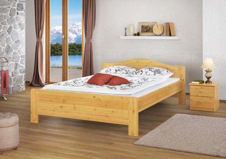 erst holz betten bett buche massivholz natur lackiert 140x220 erst holz bett 140 x 200 cm. Black Bedroom Furniture Sets. Home Design Ideas
