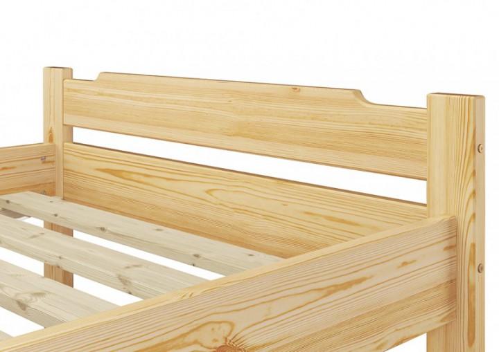 einzelbett kiefer natur 80x200 massivholzbett jugendbett rollrost matratze nachttisch m. Black Bedroom Furniture Sets. Home Design Ideas