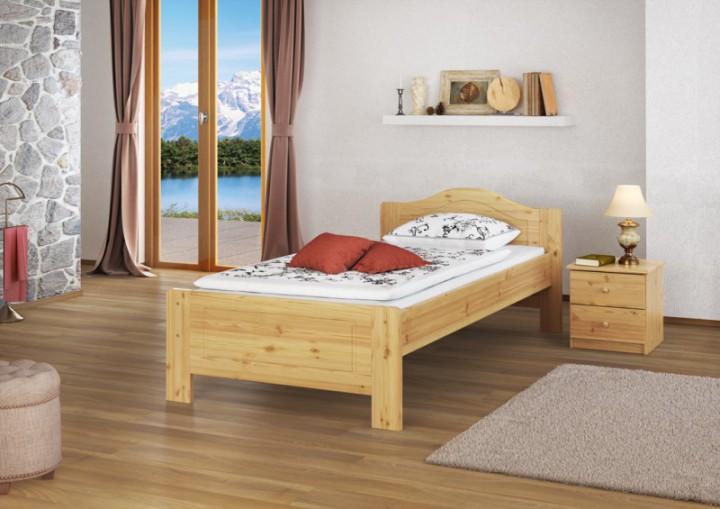 kieferbett natur einzelbett jugendbett futonbett 90x200 massivholzbett ohne rollrost or. Black Bedroom Furniture Sets. Home Design Ideas
