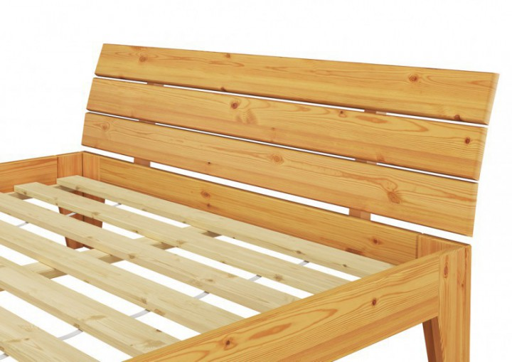 massivholzbett kiefer natur einzelbett futonbett jugendbett 120x200 rollrost matratze m. Black Bedroom Furniture Sets. Home Design Ideas
