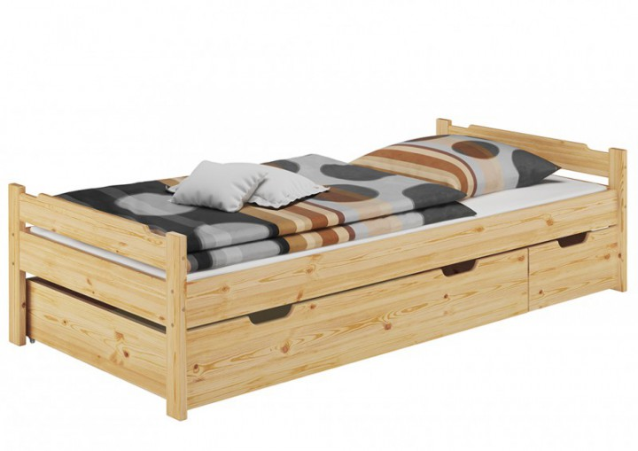 jugendbett 90x200 einzelbett kiefer rollrost matratze. Black Bedroom Furniture Sets. Home Design Ideas