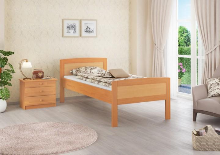 einzelbett buche 120x200 bettgestell massivholz natur rollrost matratze m. Black Bedroom Furniture Sets. Home Design Ideas