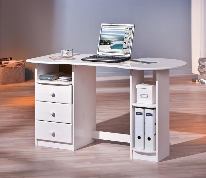 Schreibtisch computertisch g steschreibtisch touchround for Schreibtische weiss holz