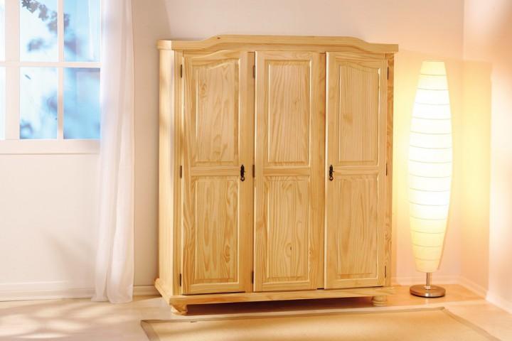 kleiderschrank bern 3-türig landhausstil schlafzimmerschrank, Attraktive mobel