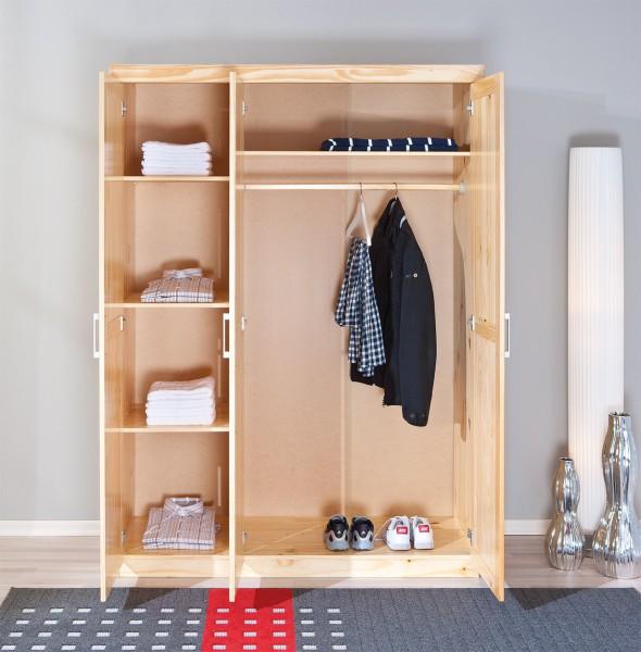 kleiderschrank pelle schlafzimmerschrank 3 t rig kiefer natur kleiderschr nke. Black Bedroom Furniture Sets. Home Design Ideas