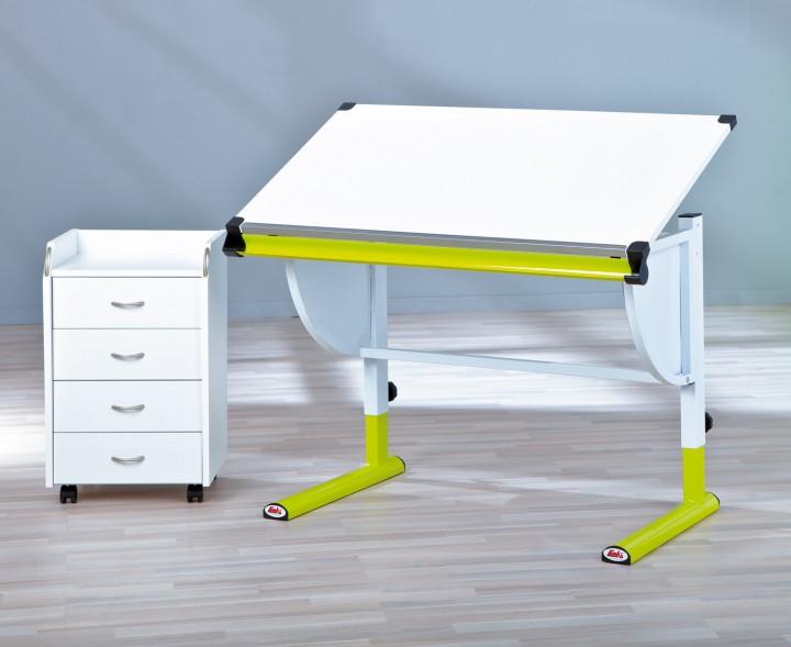 jugend schreibtisch kinderschreibtisch metall melamin wei. Black Bedroom Furniture Sets. Home Design Ideas