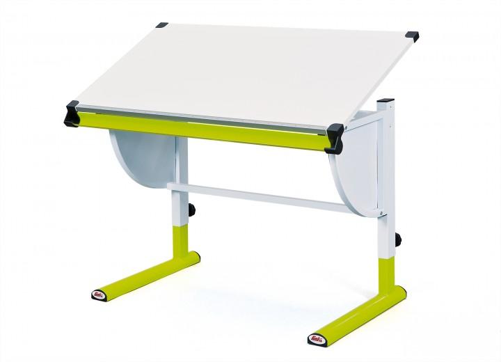 Kinderschreibtisch holz  Jugend-Schreibtisch Kinderschreibtisch Metall Melamin weiß-grün ...