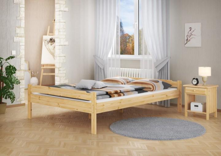 doppelbett kiefer natur massivholz 140x200 ehebett. Black Bedroom Furniture Sets. Home Design Ideas